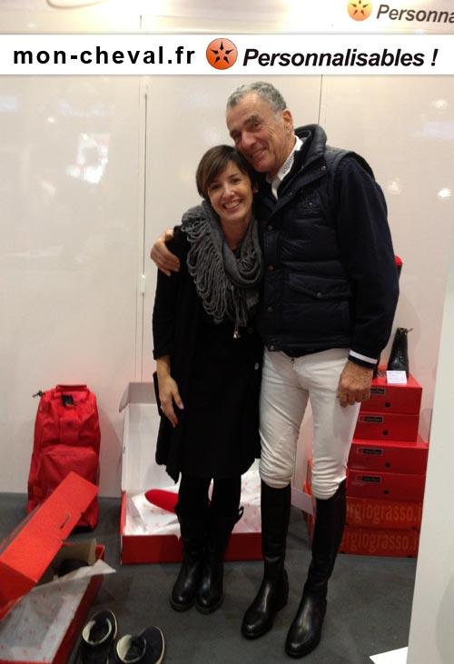 Michel Robert sur le stand Mon Cheval vient chercher ses bottes Sergio Grasso