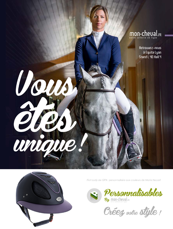 Marie Hécart et sa First Lady GPA Personnalisable Mon Cheval